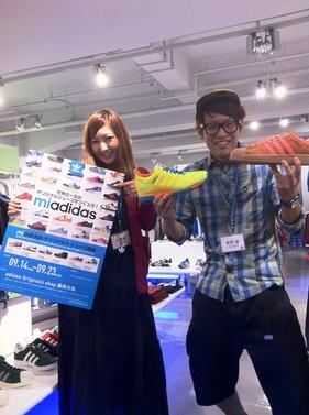 【京都藤井大丸】京都でオリジナルスニーカーを作ろう!!「mi adidas」開催。